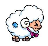 Piccolo fumetto sveglio delle pecore Fotografia Stock