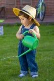 Piccolo giardiniere del neonato Immagine Stock