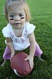 Piccolo giocatore di football americano fotografie stock libere da diritti
