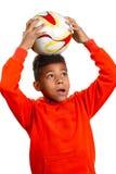 Piccolo giocatore di football americano Immagine Stock Libera da Diritti