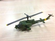 Piccolo giocattolo del modello di hobby dell'elicottero dell'esercito Immagine Stock Libera da Diritti