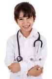 Piccolo giovane medico del ragazzo Fotografie Stock