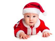 Piccolo gnome sveglio del bambino nel colore rosso Fotografie Stock