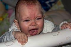 Piccolo gridare del bambino Immagini Stock