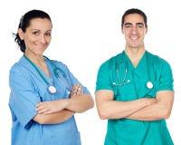 Piccolo gruppo di giovani medici Immagine Stock