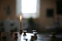 Piccolo indicatore luminoso della candela Immagine Stock Libera da Diritti
