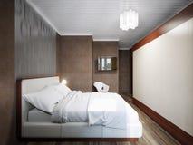 Piccolo interior design moderno contemporaneo urbano della camera da letto Illustrazione di Stock