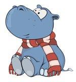 Piccolo ippopotamo fumetto Fotografia Stock Libera da Diritti