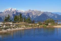 Piccolo lago con acqua blu Fotografie Stock