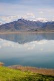 Piccolo lago Prespa, Grecia fotografie stock libere da diritti