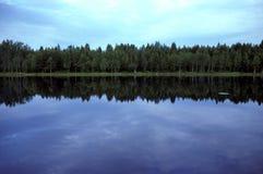 Piccolo lago in Svezia Fotografia Stock
