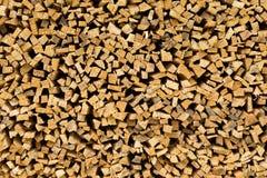 Piccolo legno tagliato dell'abete Fotografie Stock Libere da Diritti