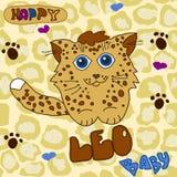 Piccolo leopardo del bambino Fotografie Stock