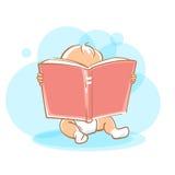 Piccolo libro di lettura sveglio del bambino Immagini Stock