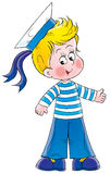 Piccolo marinaio illustrazione di stock