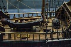 Piccolo modello artistico della barca Fotografie Stock Libere da Diritti