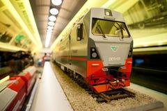 Piccolo modello del treno Immagini Stock Libere da Diritti