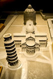 Piccolo modello di The Field dei miracoli, Pisa Fotografia Stock