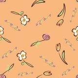 Piccolo modello floreale dei tulipani senza cuciture illustrazione vettoriale