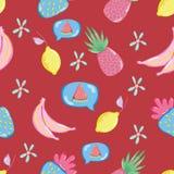 Piccolo modello floreale senza cuciture dentro royalty illustrazione gratis