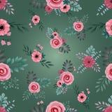 Piccolo modello floreale senza cuciture dentro illustrazione vettoriale