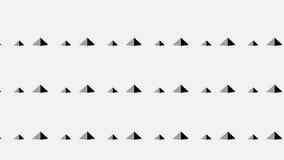 Piccolo modello monocromatico astratto moderno semplice della piramide Fotografia Stock