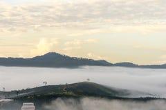 Piccolo modo in nebbia Immagini Stock