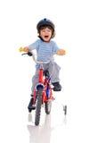 Piccolo motociclista. Fotografia Stock