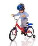Piccolo motociclista. Immagini Stock Libere da Diritti