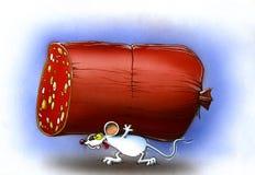 Piccolo mouse bianco Fotografie Stock