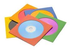 Piccolo mucchio del CD Fotografia Stock Libera da Diritti