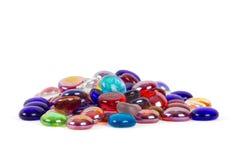 Piccolo mucchio delle gemme di vetro Fotografia Stock