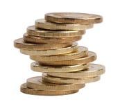 Piccolo mucchio delle monete di rame Fotografie Stock