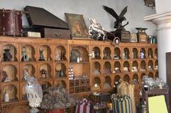 Piccolo negozio con la cosa antica Fotografie Stock Libere da Diritti