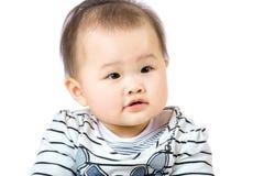 Piccolo neonato isolato su bianco fotografia stock libera da diritti