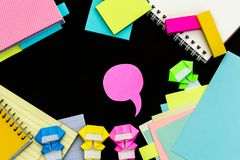 Piccolo Ninja Kids Are Helping il vostro lavoro o studio Immagine Stock Libera da Diritti