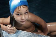 Piccolo nuotatore Fotografie Stock