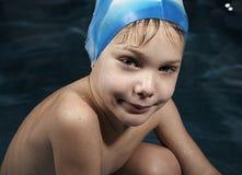 Piccolo nuotatore Fotografie Stock Libere da Diritti