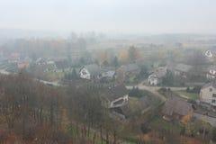 Piccolo paesaggio del villaggio Immagine Stock