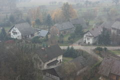 Piccolo paesaggio del villaggio Immagine Stock Libera da Diritti
