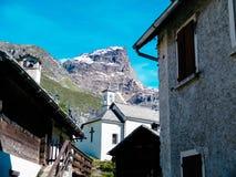Piccolo paesino di montagna del devero di Alpe, alpi di Lepontine, estate Mo Fotografia Stock