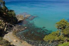 Piccolo panorama della spiaggia Immagine Stock Libera da Diritti