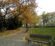 Piccolo parco a Praga, repubblica Ceca Fotografie Stock Libere da Diritti
