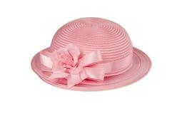 Piccolo Pasqua cappello di Childs nel colore rosa Fotografia Stock Libera da Diritti