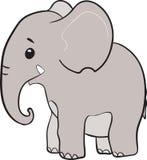 Piccolo personaggio dei cartoni animati sveglio dell'elefante Fotografia Stock Libera da Diritti