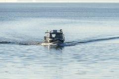 Piccolo peschereccio che si avvicina a New Bedford Fotografia Stock Libera da Diritti