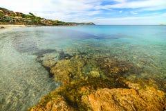Piccolo Pevero beach in Costa Smeralda. Italy Royalty Free Stock Images