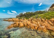 Piccolo Pevero beach under a blue sky. Sardinia Stock Images