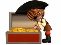 Piccolo pirata - figura di Toon illustrazione di stock