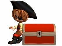 Piccolo pirata - figura di Toon illustrazione vettoriale